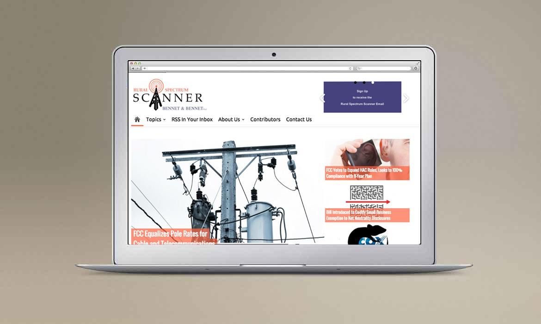 RSS website on laptop