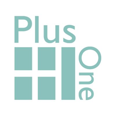 Plus One Strategic Communications Retina Logo